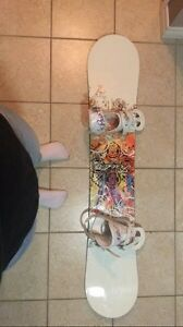 FIREFLY SNOWBOARD AND BURTON BINDINGS
