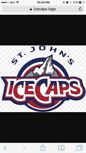 2 ice caps tickets Friday Dec 9 ( Teddy Toss)