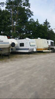 late 60's early &0's 30 foot Bananza trailer FREE