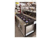 Indian restaurant Gas cooker, 9 burner with 2 Oven+solid top
