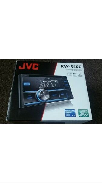 JVC KW R400 stereo double din stereo with front USB and aux port