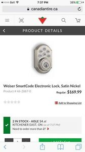 Brand new Weiser Smartcode lock touchpad keyless entry Kitchener / Waterloo Kitchener Area image 5