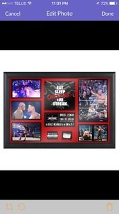 WWE/WWF/UFC BROCK LESNAR & PAUL HEYMAN SIGNED PLAQUE