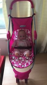 GRACO DOLL PRAM & TALKING DOLL