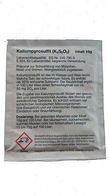 Schwefelpulver 10G Kaliumpyrosulfit (24,90€/100g)