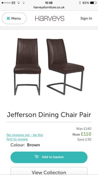 6 dining chairs Harveys Brown faux leather in  : 86 from www.gumtree.com size 337 x 600 jpeg 21kB