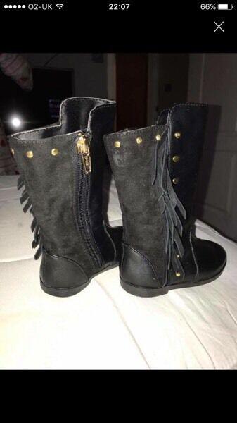 Infant black river island boots