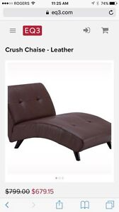 EQ3 Leather Chair Black London Ontario image 1