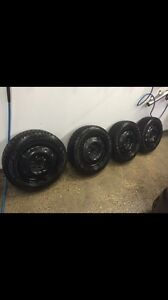 Nordic winter tires and rims $450