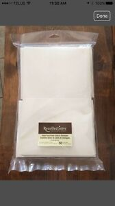 Blank Ivory Cards and Envelopes