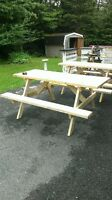 hand made picnic tables