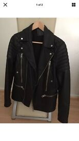 Men's All saints Cranleigh leather jacket size small
