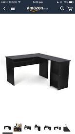 L - Shaped Office Computer Desk - Black
