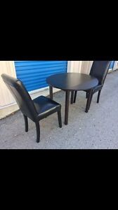 Black small table plus 2 chairs