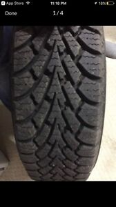 Almost brand new winter tires (185/65/R15) London Ontario image 1