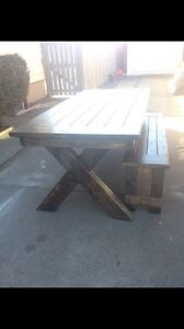 Farmhouse Furniture - table, bench, coffee table