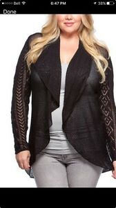 Black high low cardigan