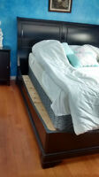 SLEIGH BED Dark Wood KING SIZE Excellent condition