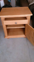 Solid maple Custom made head board and side tables