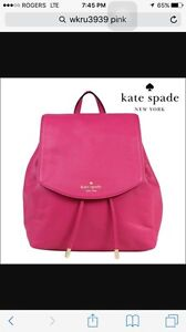 Kate spade leather backpack never used brand new