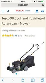 Tesco petrol lawnmower