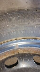 16 inch snow tires on rims used one season London Ontario image 4