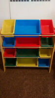 Multi-coloured Bin Organizer
