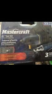Mastercraft Air Tool Kit with accessories (55 pcs), new,