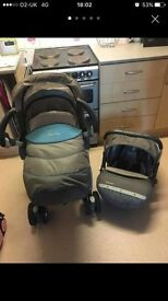 Silver cross push chair and car seat