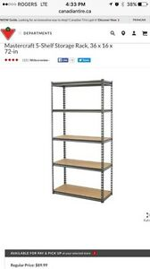 Mastercraft 5-Shelf Storage Rack