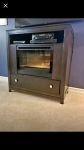 Buhler TV Sand with Dimplex Fireplace