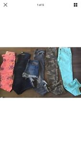 LOT XS 0/1 SKINNY JEANS AND SHORTS New CONDITION