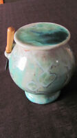 Beurrier Breton Ceramique Turquoise French butter dish
