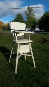 Vintage high chair photo prop