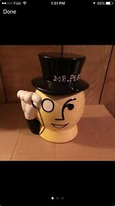 """LIQUIDATION""VINTAGE MR PEANUT COLLECTABLE JARS"
