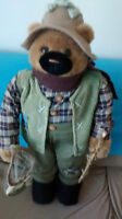 standing 3 ft plus fishing bear 10.00 firm downsizing