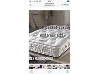 Best sleep ever 2000 pocket sprung mattress with topper £229
