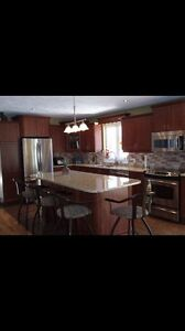 SOLD PPU- Kitchen cabinets, island and granite countertop
