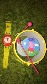 PEPPA PIG DRUM AND WATCH