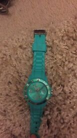 Ice turquoise watch