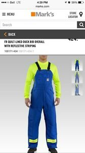 Winter FR bib coveralls