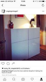 IKEA white gloss BESTA sideboard