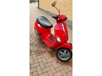 Piaggio Vespa S 50cc Scooter LOW MILAGE Ped Motor Bike Red
