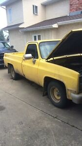 1981 c10 with parts truck must sell asap