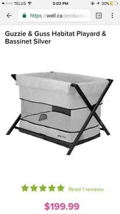 Brand new in the box guzzie and guss habitat playard bassinet