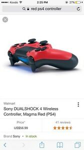 Red PS4 controller NEED GONE BY TODAY