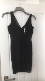 Size 8 black river island dress