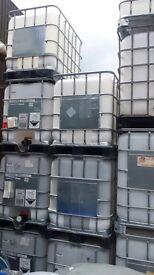 1000 litre IBC water/waste storage tanks
