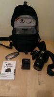 Canon EOS rebel T3 with case
