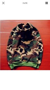 Camouflauge  supreme men's embroidered cotton sweater  hoodie  Belleville Belleville Area image 2